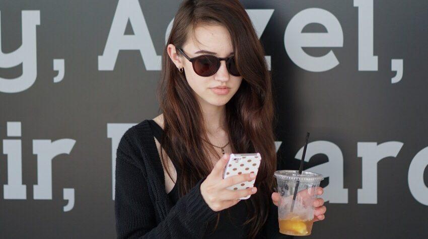 Brooke Delanie on the phone