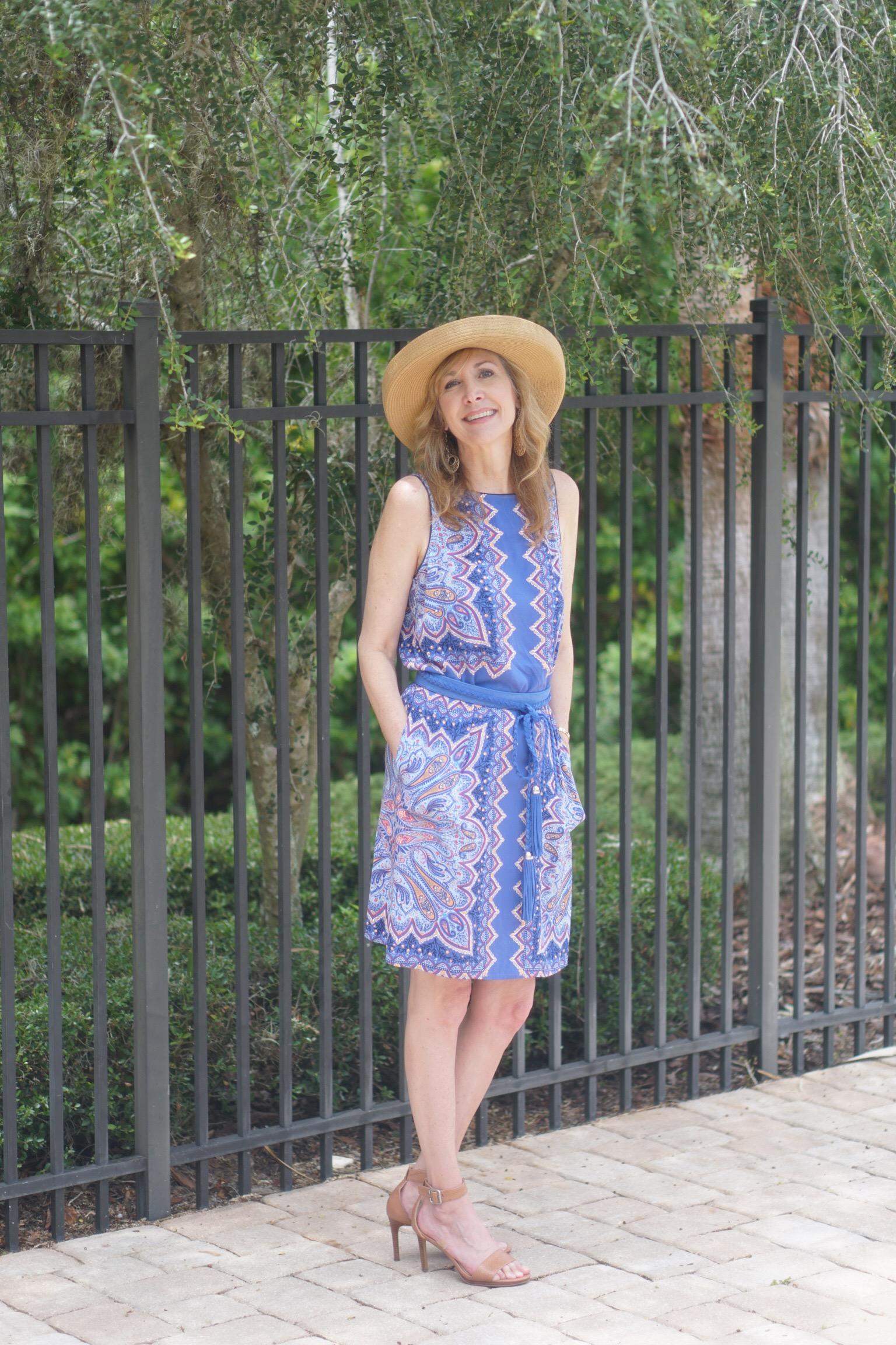 Summer essentials J.Jill Mosaic dress