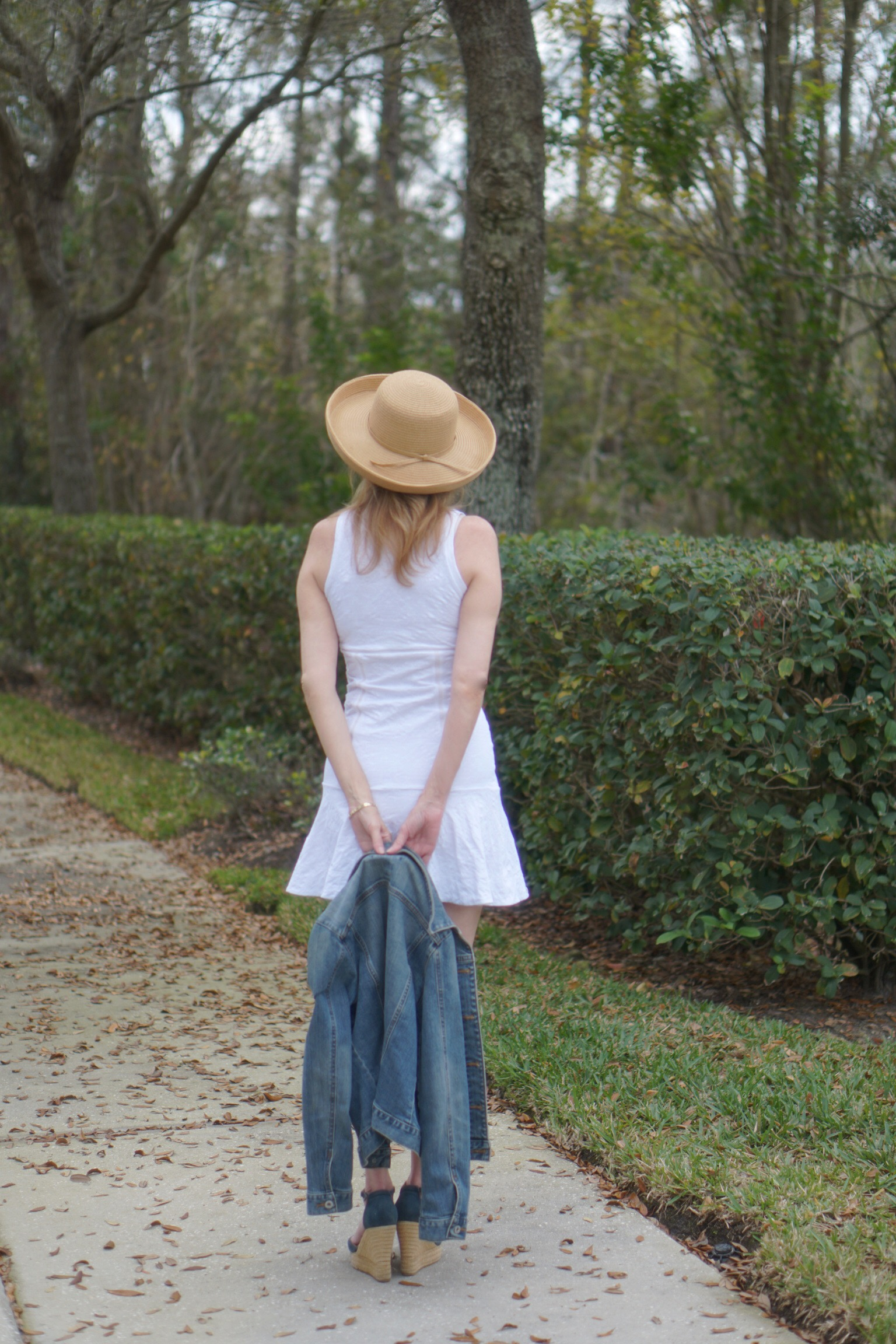 At a Crossroads, White E'Etoile Tennis Dress