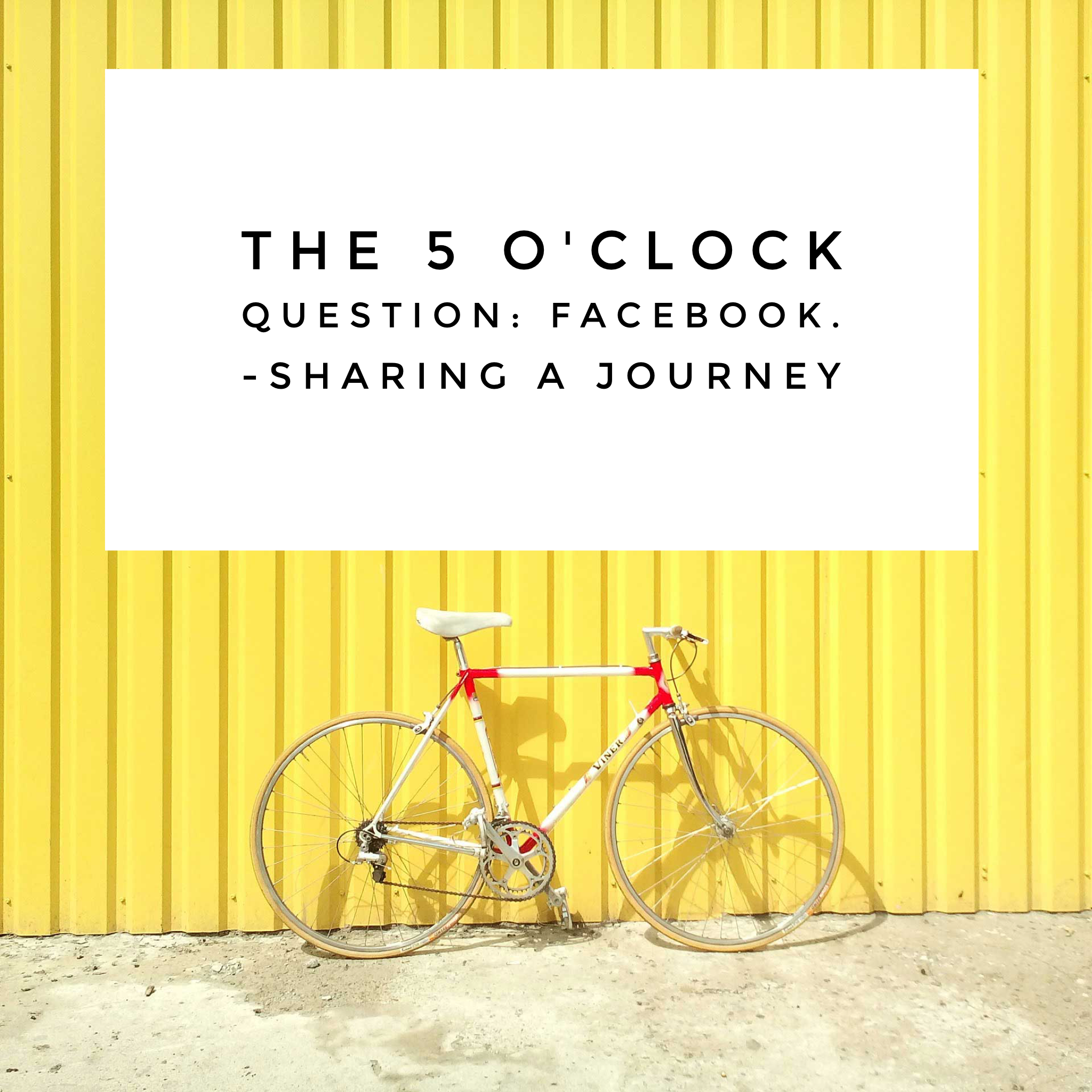 The Five O'Oclock Question on Sharing A Jurney's Facebook Page-be there!