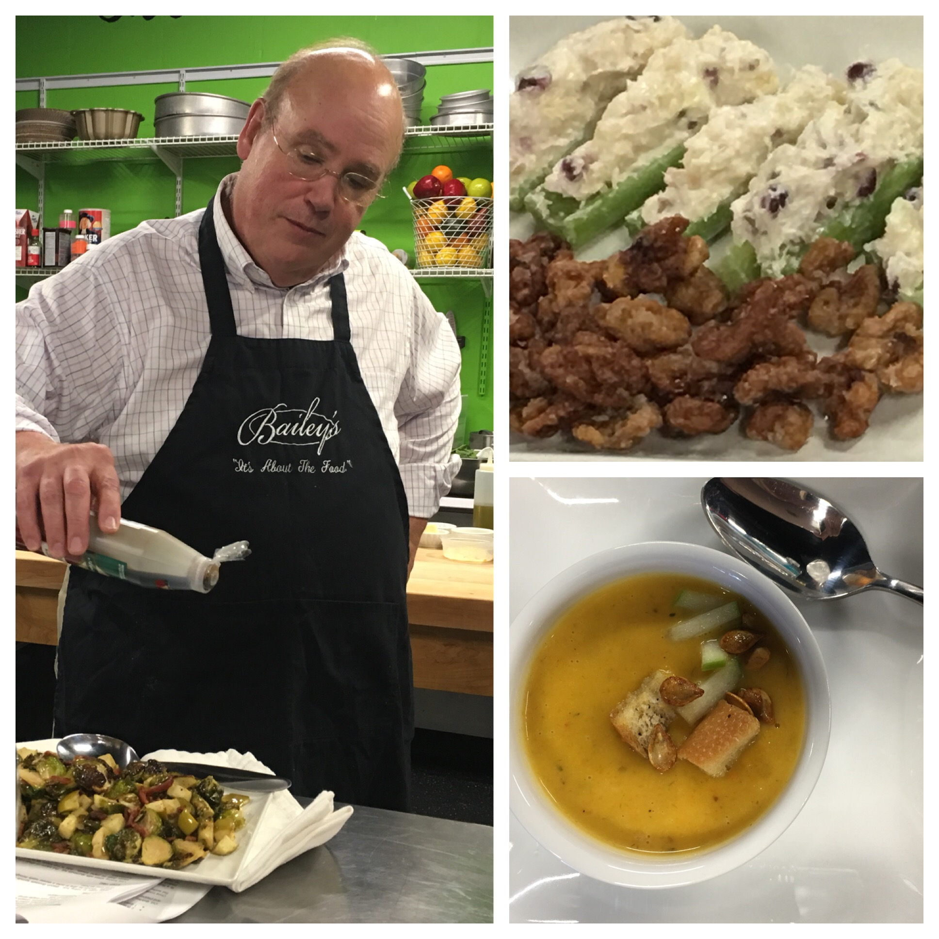 KIm Bailey Makes Amazing Sides at a recent cooking class