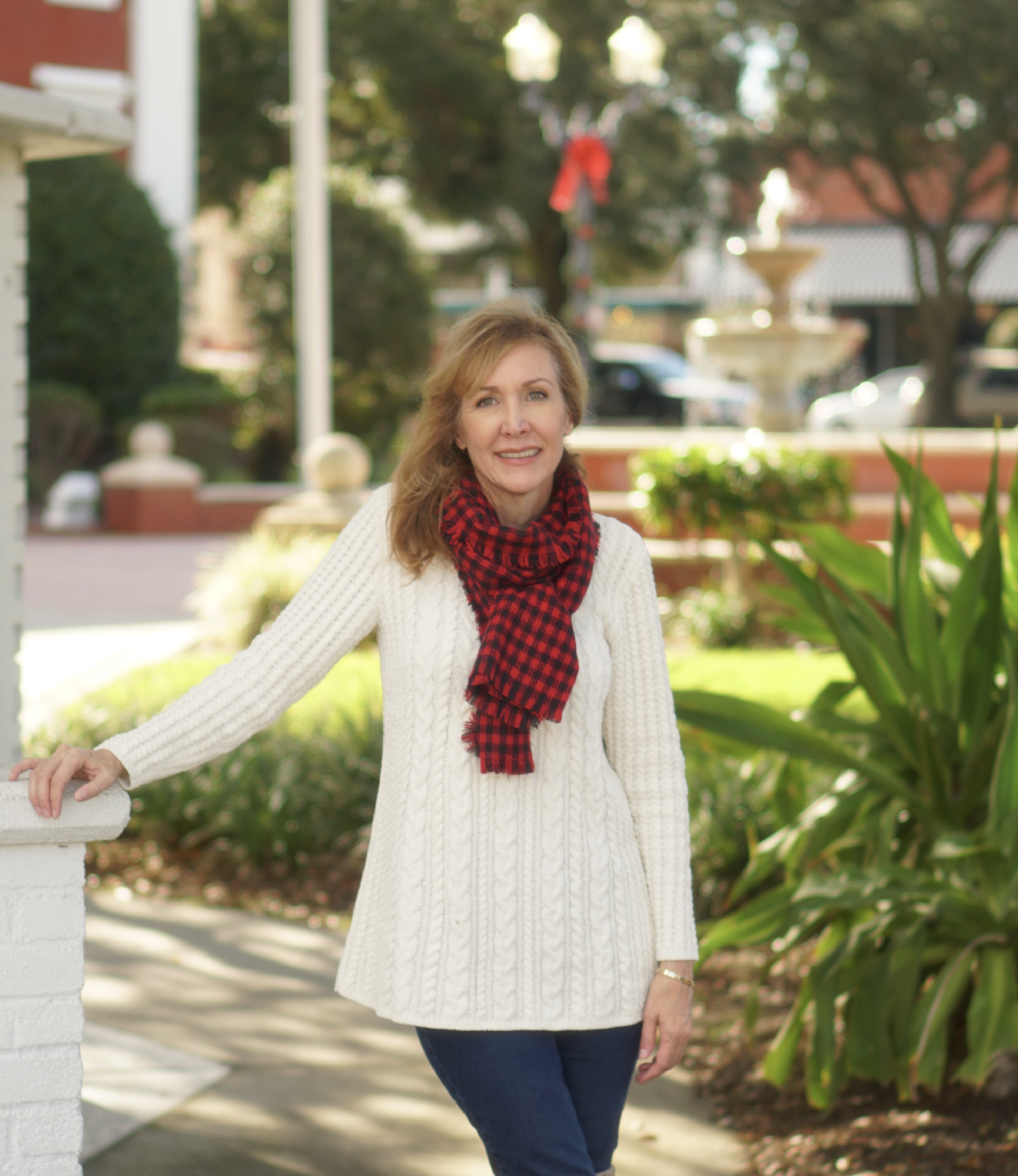 Look super cute shopping in J.Jill Sweater and Scarf