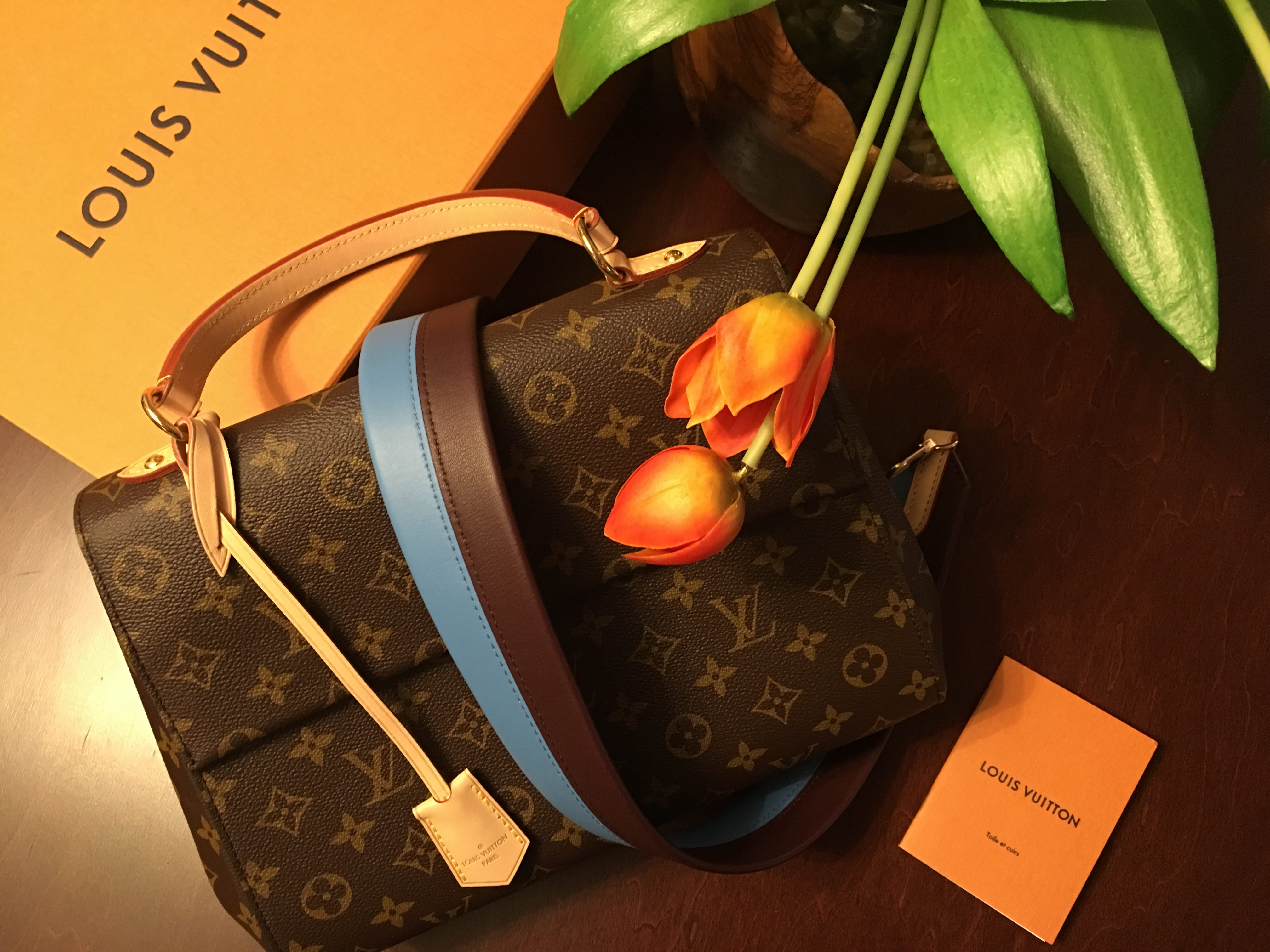 Louis Vuitton handbag with box and paper work