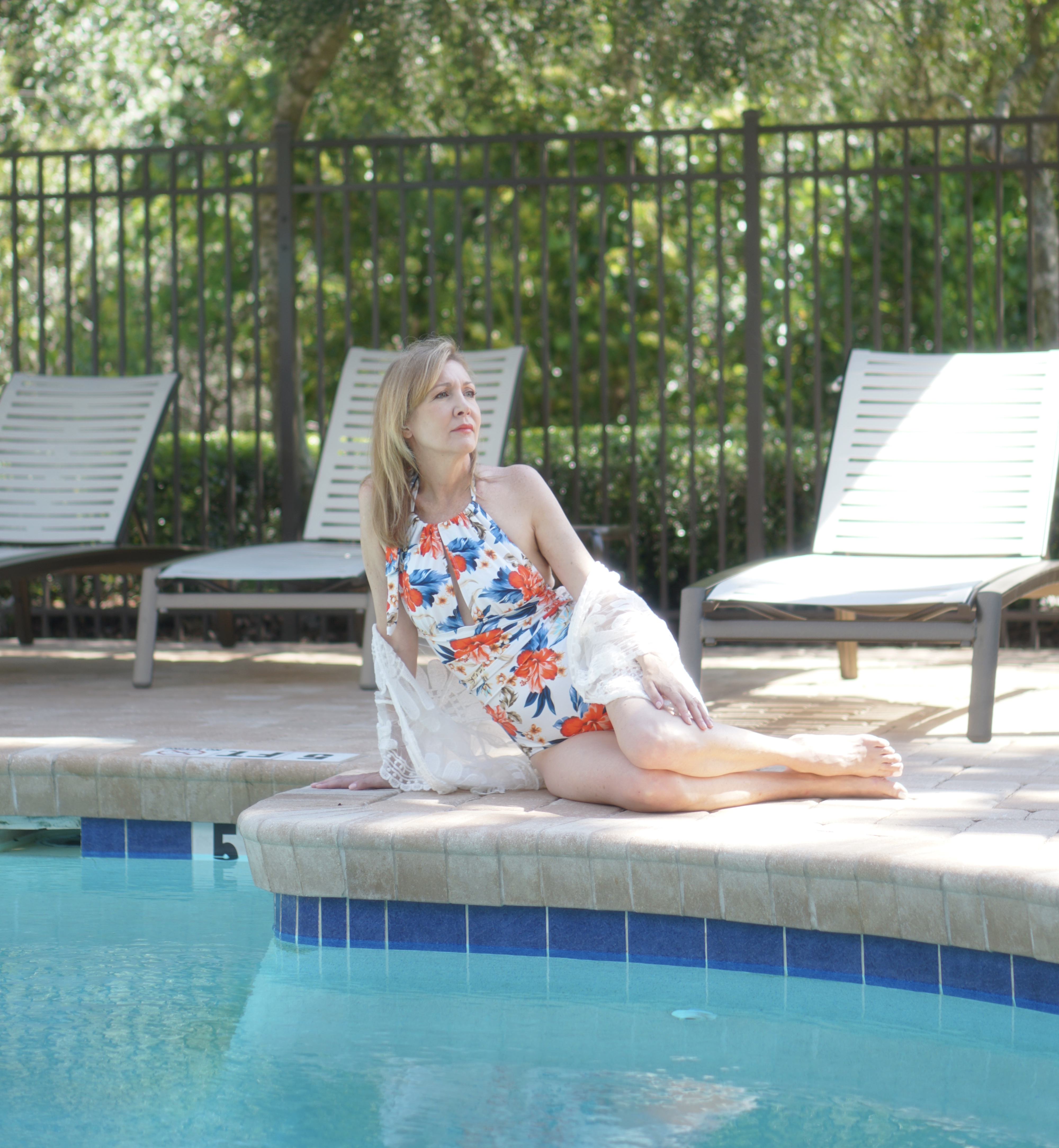 Swimsuits for Mature Women from Amazon featured by top Tampa Over 50 fashion blog, Sharing A Journey.